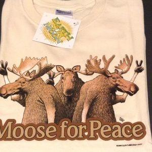 Moose T-shirt (Unisex cut) Moose For Peace!